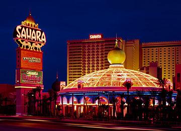 Знаменитое казино Sahara в Лас-Вегасе
